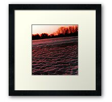 Black ice and snow Framed Print