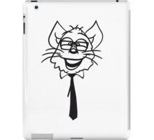 face head nerd geek hornbrille tie clever funny iPad Case/Skin