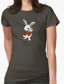 White Rabbit - Alice in Wonderland Womens Fitted T-Shirt