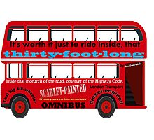 A Transport of Delight - Omnibus song! Photographic Print