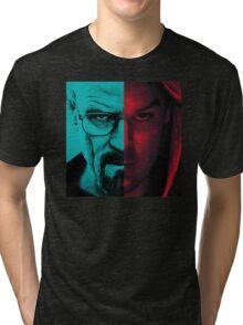HEISENBERG VS DEXTER Walter White Breaking Bad and Dexter Face Mash Up Tri-blend T-Shirt