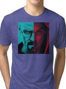 HEISENBERG VS DEXTER Walter White Breaking Bad and Dexter Face Mash Up Tri-blend T-Shirt