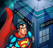 Superman and tardis by moltres