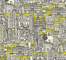 Hong Kong toile de jouy chartreuse by Sharon Turner