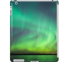 Northern lights over lake in Finland iPad Case/Skin