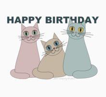 HAPPY BIRTHDAY by THREE CATS Kids Tee