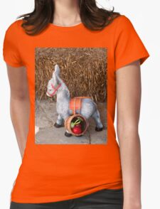 Easter little donkey Womens Fitted T-Shirt