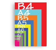 Colourful paper sizes Canvas Print