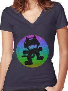 Monstercat Women's Fitted V-Neck T-Shirt