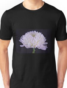 White Glowing Mum Flower Unisex T-Shirt