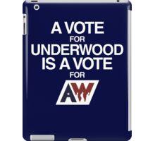 Underwood putting america to work iPad Case/Skin