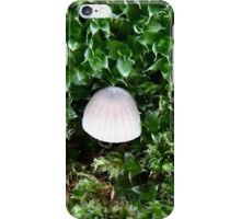 Tiny toadstool in moss iPhone Case/Skin