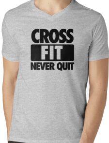 CROSS FIT NEVER QUIT Mens V-Neck T-Shirt