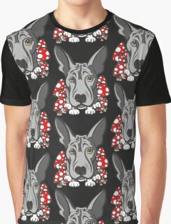 Wolf Dog Mushrooms  Graphic T-Shirt