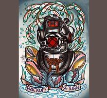 diver's helmet, deep sea diving old school tattoo art T-Shirt