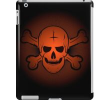 skull and crossbones. Jolly Roger on a beautiful black and orange background. iPad Case/Skin
