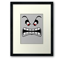 Thwomp face ! Framed Print