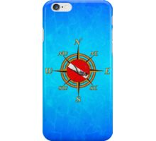 Nautical Dive Compass iPhone Case/Skin
