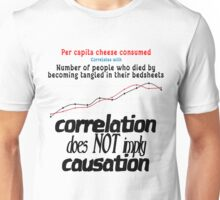 Correlation Vs Causation Unisex T-Shirt