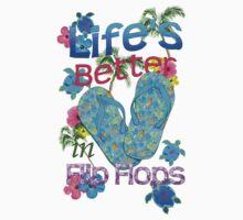 Life Is Better In Flip Flops One Piece - Long Sleeve