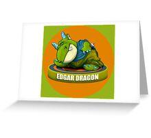 Edgar Dragon Greeting Card