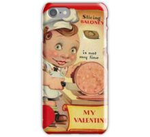 vintage valentine creepy butcher iPhone Case/Skin