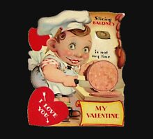 vintage valentine creepy butcher Unisex T-Shirt