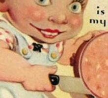 vintage valentine creepy butcher Sticker