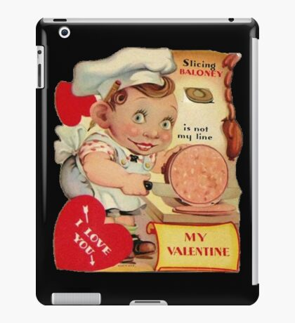 vintage valentine creepy butcher iPad Case/Skin
