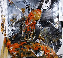 If you can't stand the heat get out of the kitchen - Original BIG Wall Modern Abstract Art Painting by Dmitri Matkovsky