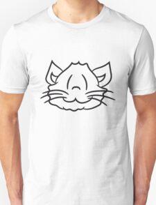 face head happy sweet cute kitten fluffy fur T-Shirt