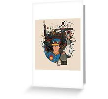 Moving Castle Greeting Card