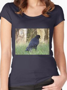 Candid Crow Women's Fitted Scoop T-Shirt