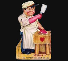 vintage valentine creepy butcher 2 Unisex T-Shirt