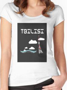 TBilisi, Georgia Women's Fitted Scoop T-Shirt