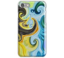 Abstract Curves Decorative Painting iPhone Case/Skin