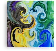 Abstract Curves Decorative Painting Canvas Print