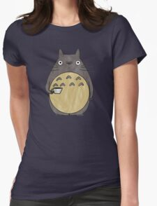 totoro coffee Womens Fitted T-Shirt