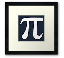 Pi (white) Framed Print