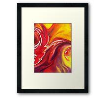 Hot Abstract Flames Decorative Art Framed Print