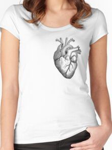 Anatomical Heart Women's Fitted Scoop T-Shirt