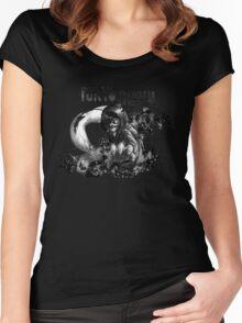 Kaneki ken - BlackWhite - Tokyo Ghoul Women's Fitted Scoop T-Shirt