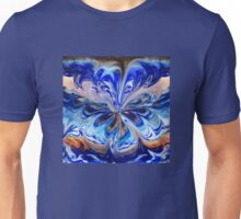 Blue And Abstract Flower  Unisex T-Shirt
