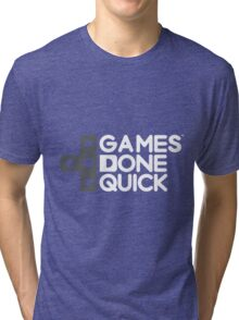 Awesome Games Done Quick (AGDQ) Tri-blend T-Shirt