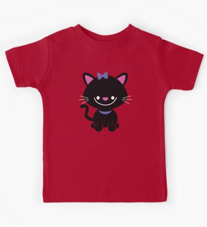Black Kitty Kids Tee
