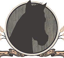 Country Horse Emblem  by NestToNest