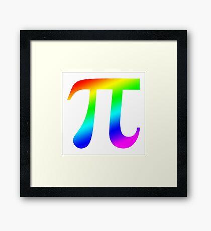 Pi (rainbow) Framed Print