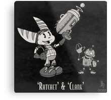 0033 - Retro Ratchet & Clank Metal Print