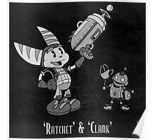 0033 - Retro Ratchet & Clank Poster