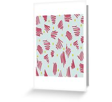 quirky pattern Greeting Card